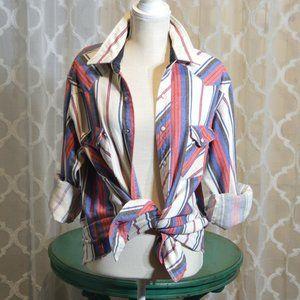 Vintage Wrangler Southwestern Stripe Long Sleeve